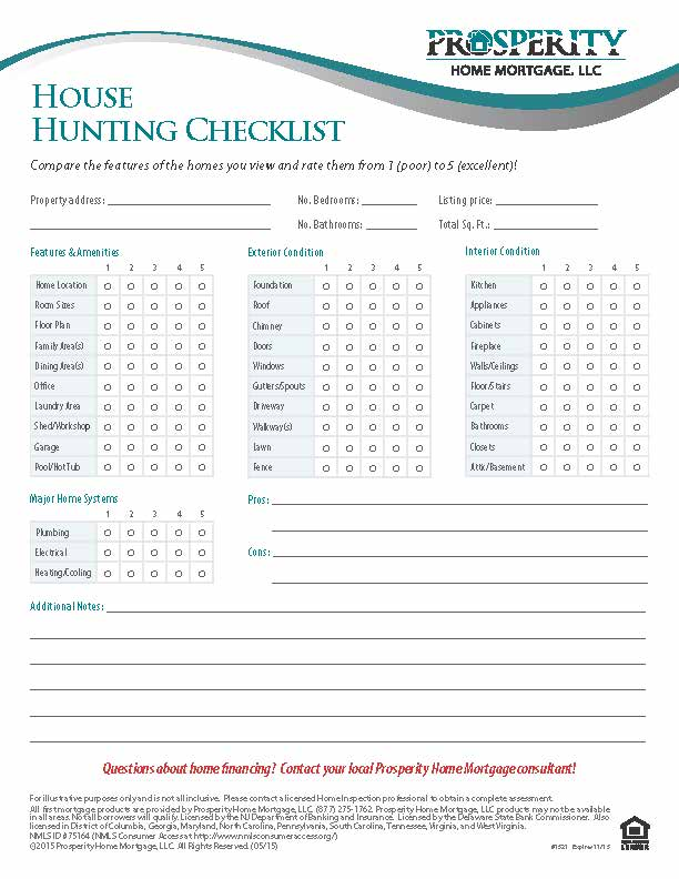 Enterprising image inside house hunting checklist printable